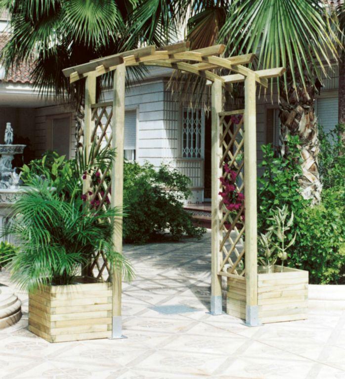 Arcos de madera para jardin finest tenamos unas celosas for Arcos de jardin